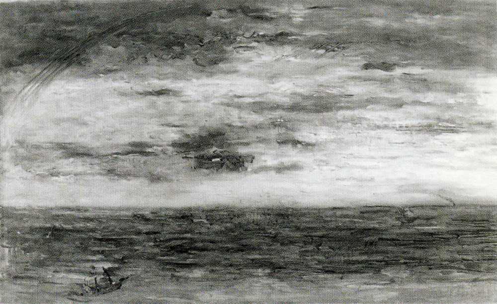 James Ensor - Seascape at Sunset