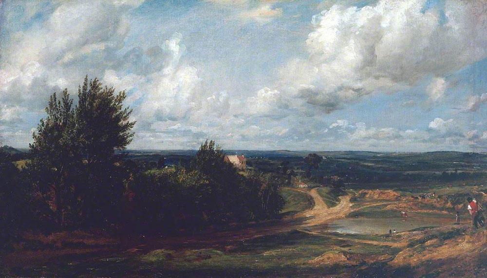 John Constable - Hampstead Heath, with the House Called 'The Salt Box'