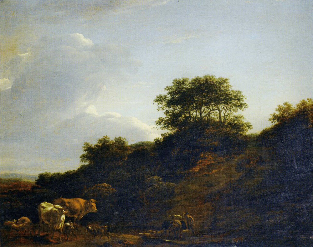 Nicolaes Berchem - Landscape with a Hill