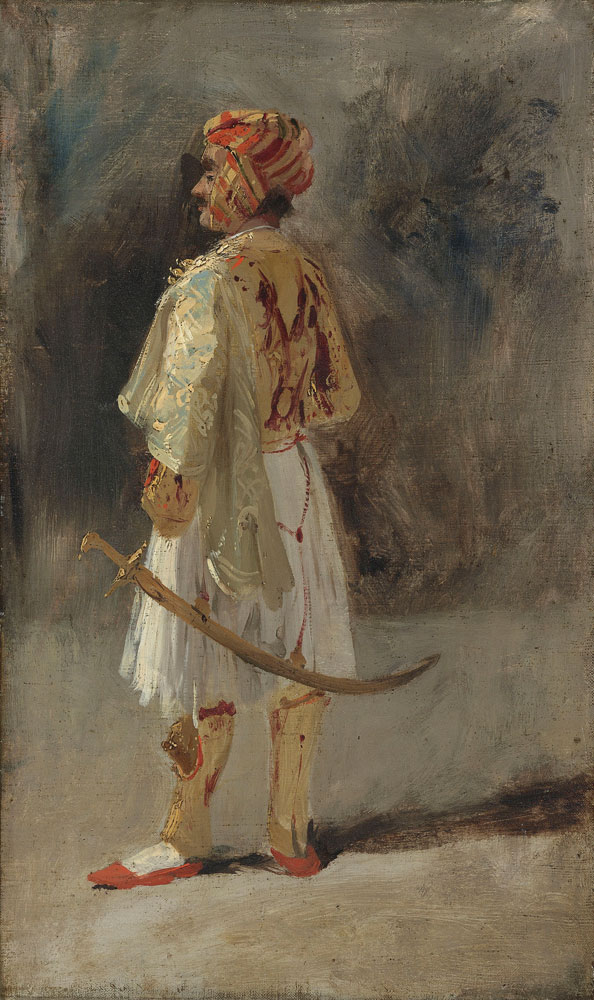 Richard Parkes Bonington - The Count of Palatino in the costume of a Palikar
