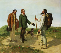 Gustave Courbet - The Meeting