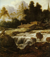 Allart van Everdingen Landscape with a Waterfall