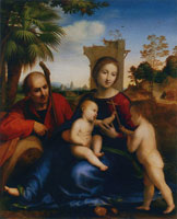 Fra Bartolommeo The Rest on the Flight into Egypt with Saint John the Baptist