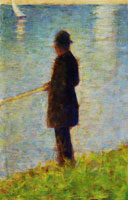 Georges Seurat The Angler
