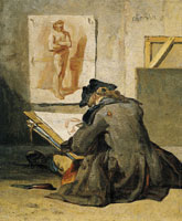 Jean-Siméon Chardin Young Student Drawing
