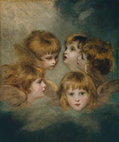 Joshua Reynolds A Child's Portrait in Different Views: 'Angel's Heads'