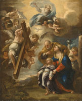 Luca Giordano The infant Christ contemplating the instruments of the Passion