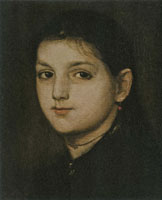 Matthijs Maris Head of a Girl (Portrait of Tine Lefèvre)