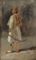 Richard Parkes Bonington The Count of Palatino in the costume of a Palikar