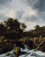 Jacob van Ruisdael Waterfall in a Hilly Landscape