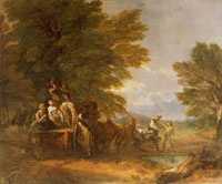 Thomas Gainsborough The Harvest Wagon