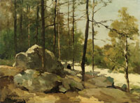 Jan Hendrik Weissenbruch Forest View near Barbizon