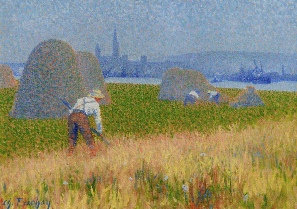 Charles Frechon - Haymaking in the Saint-Gervais Meadows