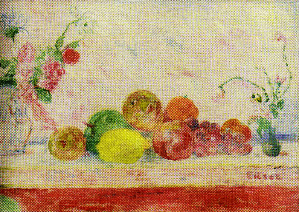 James Ensor - Kisses of Flowers, Caresses of Fruit