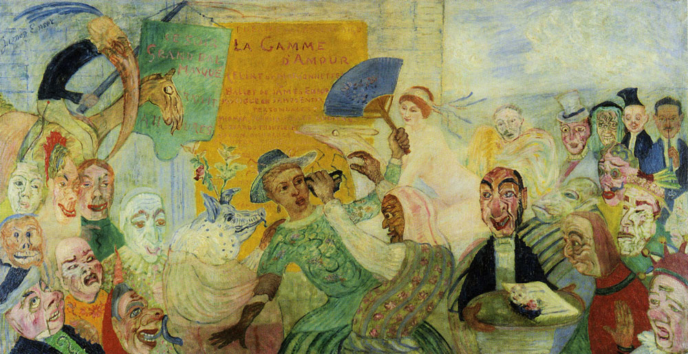 James Ensor - The Torn Away Mask