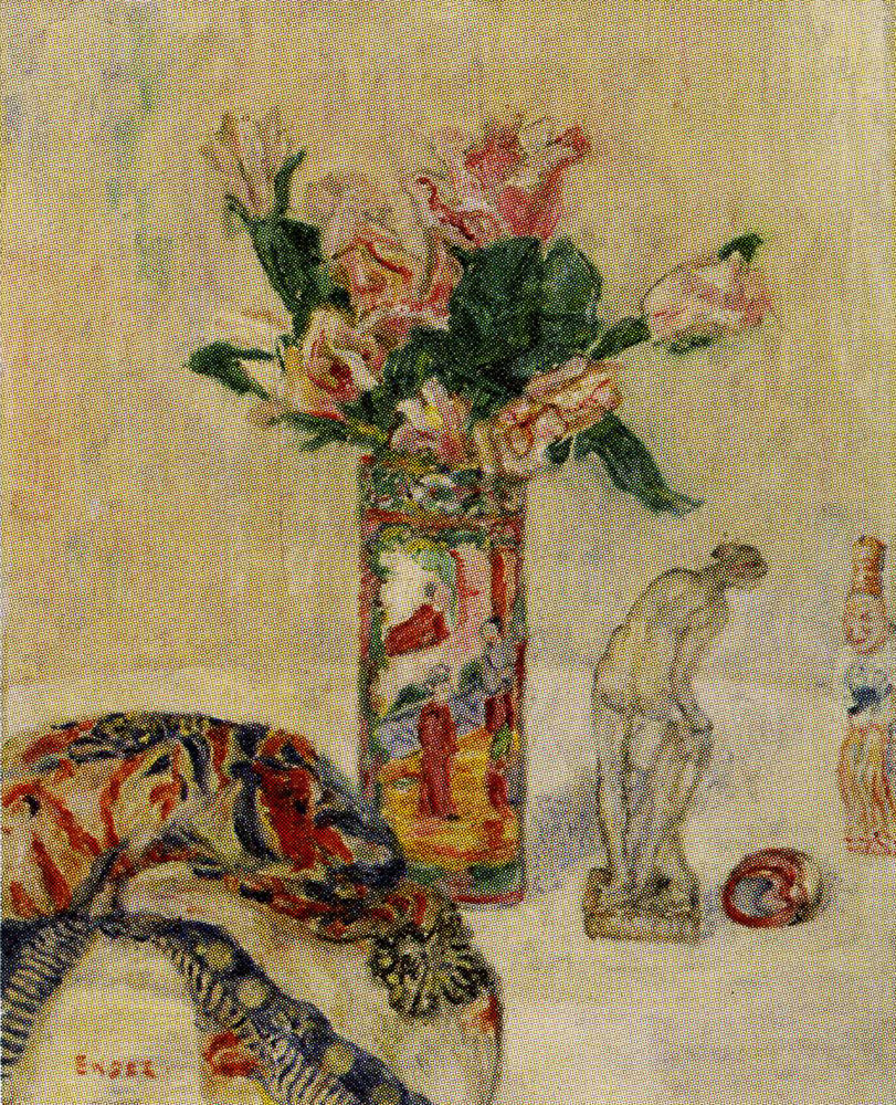 James Ensor - Vases with Flowers
