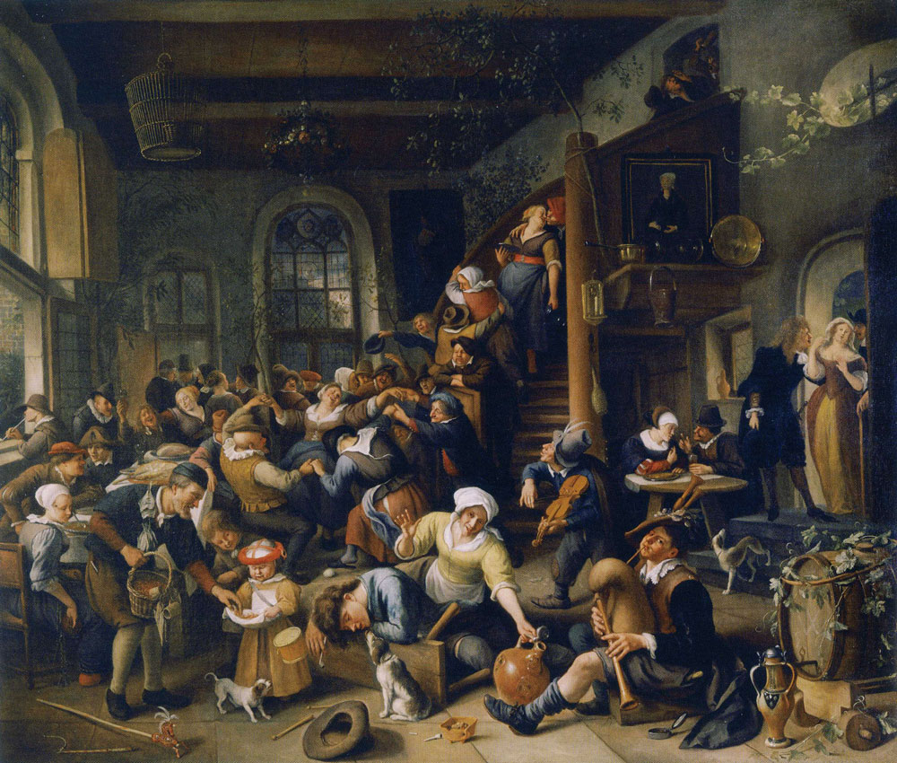 Jan Steen - Peasant Revel with an Egg Dance