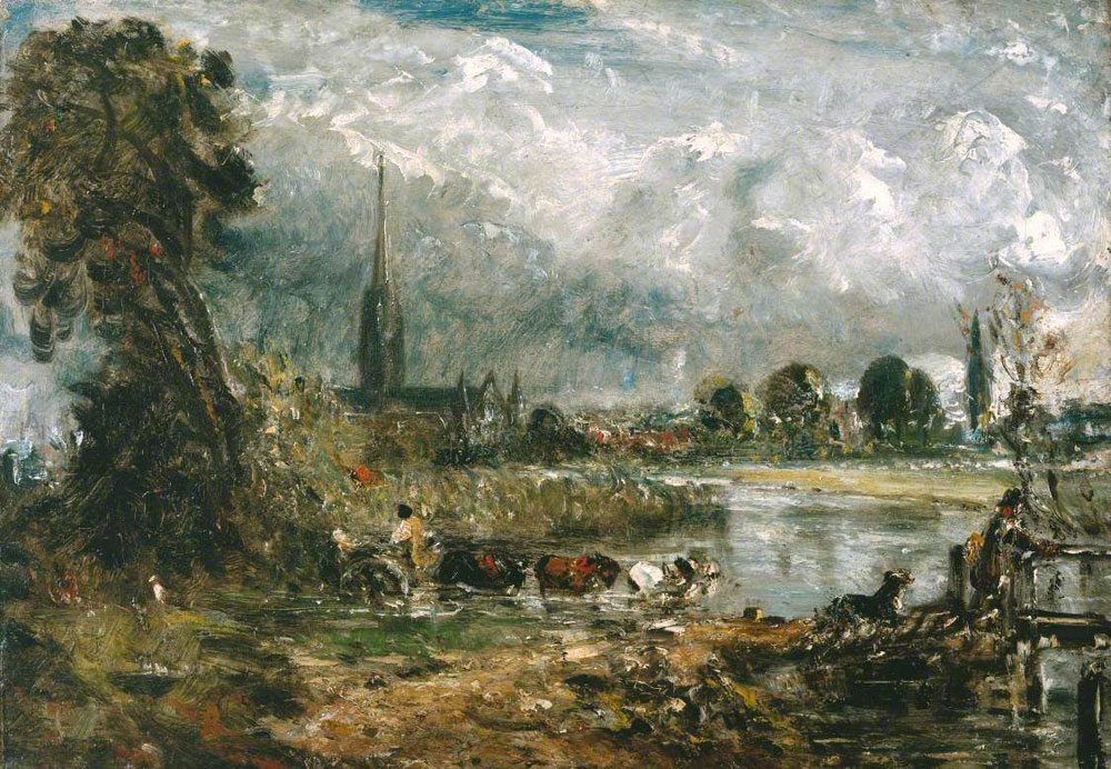 John Constable - Salisbury Cathedral from the Meadows