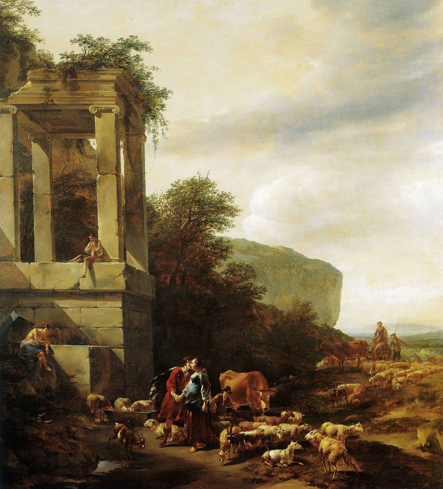 Nicolaes Berchem - Jacob and Rachel at the Well