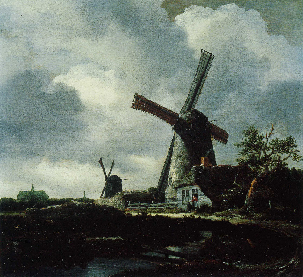 Jacob van Ruisdael - Landscape with Two Windmills