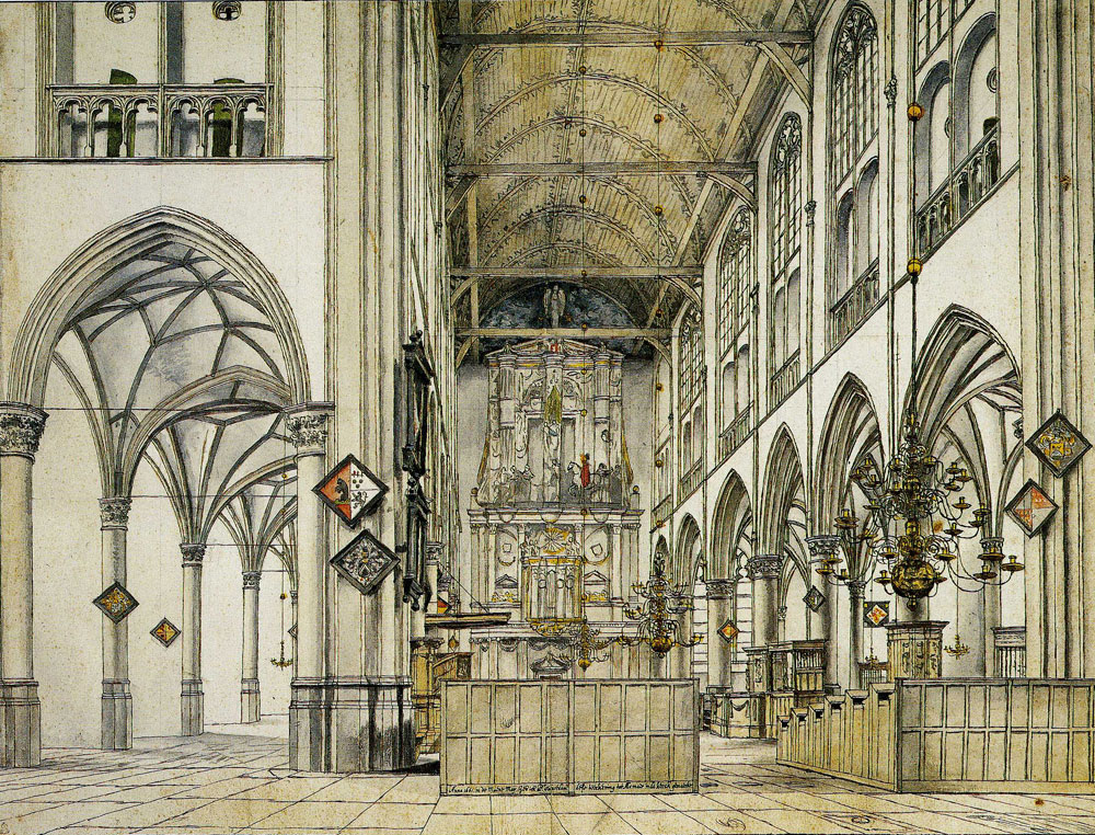 Pieter Saenredam - Interior of the Groote Kerk (Church of St. Lawrence) in Alkmaar