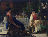 Lawrence Alma-Tadema Preparations for the Festivities (The Floral Wreath)