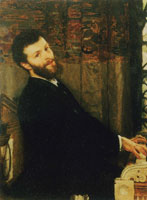 Lawrence Alma-Tadema Portrait of the Singer George Henschel
