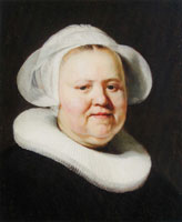 Jacob Backer Portrait of a woman with a white cap