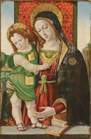 Attributed to Bartolomeo Caporali and Studio - The Madonna and Child