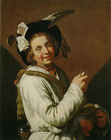 Abraham Bloemaert Boy with rumbling pot