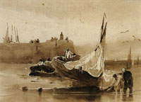 Richard Parkes Bonington Calais Pier, Low Tide