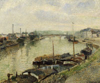 Camille Pissarro The Pont Corneille and Barges, Rouen