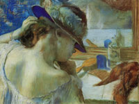 Edgar Degas In Front of the Mirror
