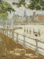 Edouard Vuillard View on the Binnenalster in Hamburg