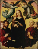 Gerard David Virgin Crowned by Angels with Four Saints