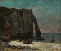 Imitator of Gustave Courbet - The Cliff at Étretat