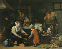 Jan Steen The Satyr and the Peasant