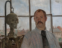 Lovis Corinth - Self-Portrait with Skeleton