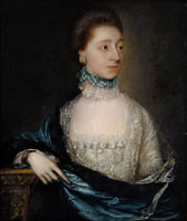 Thomas Gainsborough Portrait of an Unknown Lady with a Blue Cloak