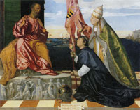 Titian Jacopo Pesaro presented to St Peter by Pope Alexander IV
