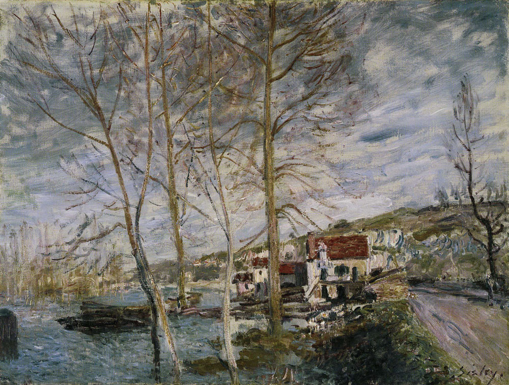 Alfred Sisley - Flood at Moret