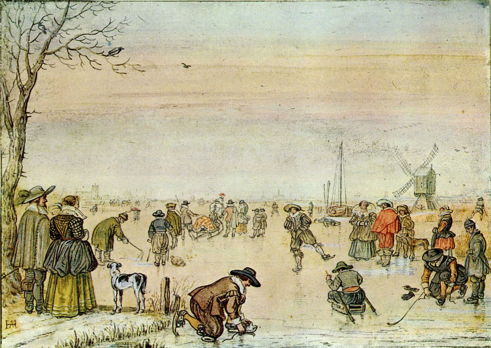 Hendrick Avercamp - Skating Scene