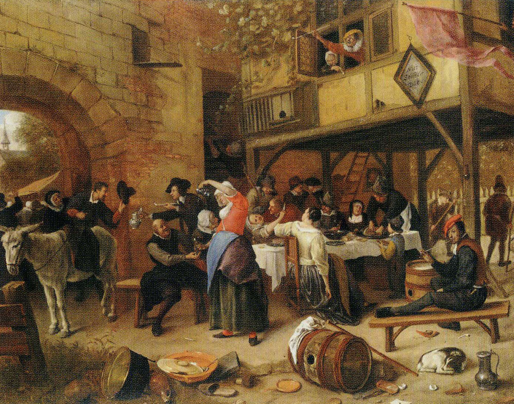 Jan Steen - Company before an Inn, 'Not without that'
