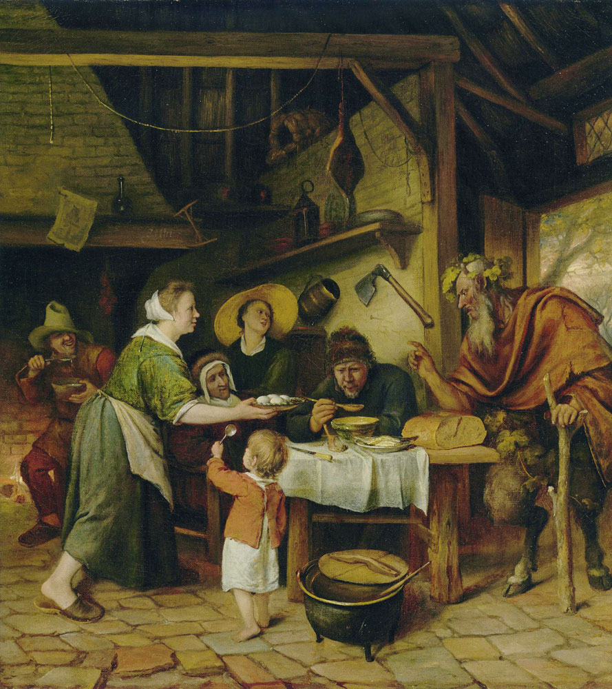 Jan Steen - The satyr and the peasant