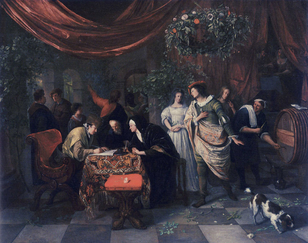 Jan Steen - The Wedding of Tobias and Sarah