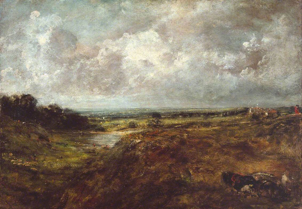 John Constable - Branch Hill Pond, Hampstead Heath, with a Cart and Carters