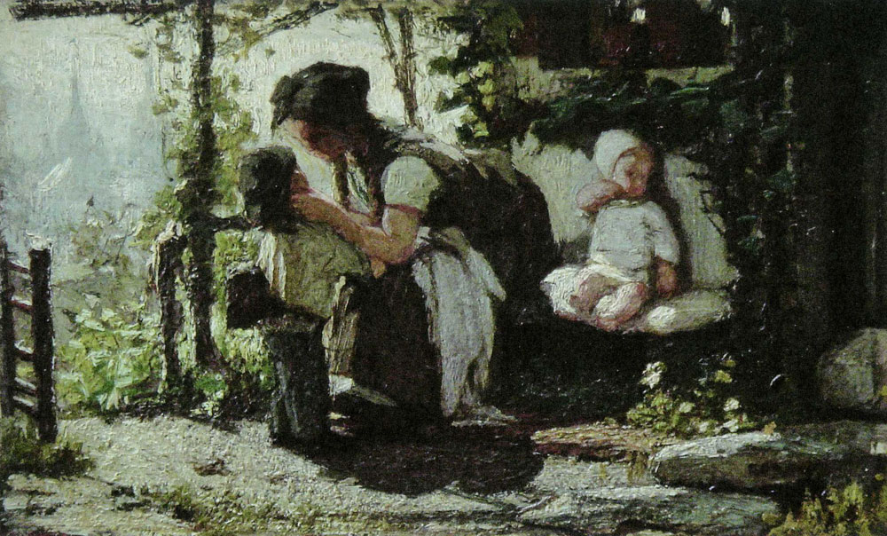 Matthijs Maris - Before Going to School