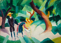 August Macke Children with a Goat