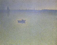 Charles Angrand The Seine at Dawn (Mist)