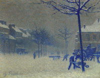 Charles Frechon Rouen, the Boulevard in the Snow
